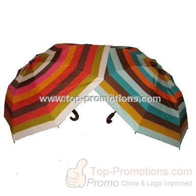 Colorful stripped umbrella by Echo Design