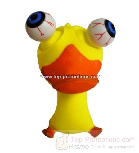Large Poppin Peepers Duck Squeeze Toy