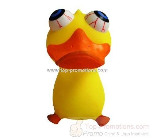 Eye Popping Duck Relief Squeeze Toy - Choking Duck