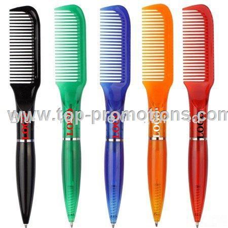 Comb shape promotional ballpoint pen