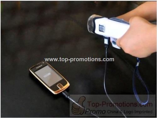 Hand Crank USB Flashlight