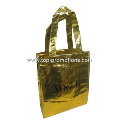 Laminated Non Woven Metallic Tote Bags