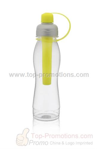Freezing sticker plastic drinking bottle