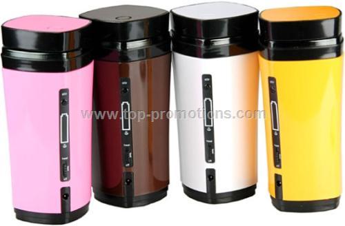 Home Office USB Warmer Heat Stir Coffee Mug