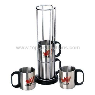 Stainless Steel Desk Mug Set