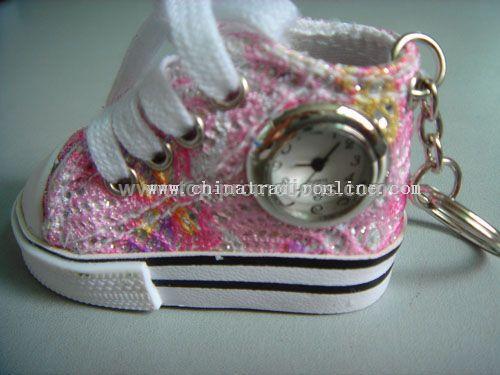 Shoe Shape Watch With Keychain