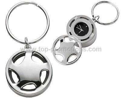 Wheel Clock and Key Chain