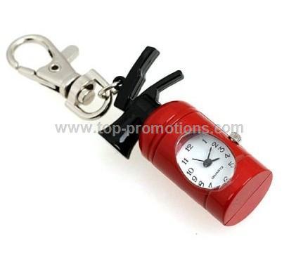 Fire extinguisher keychain watch