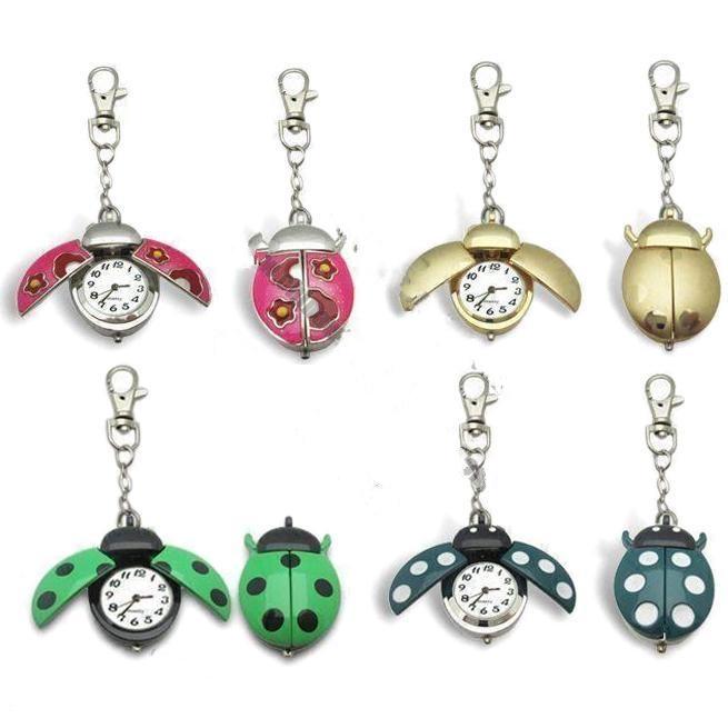 Keychain Watch in Ladybug-shaped