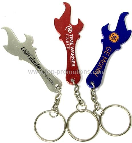 Torch / flame shaped aluminum bottle opener with