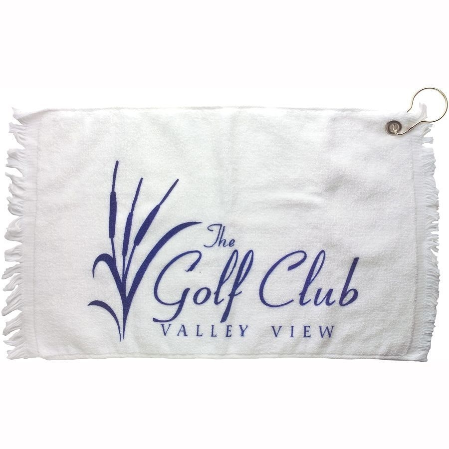 White Golf Towel W/ Hook