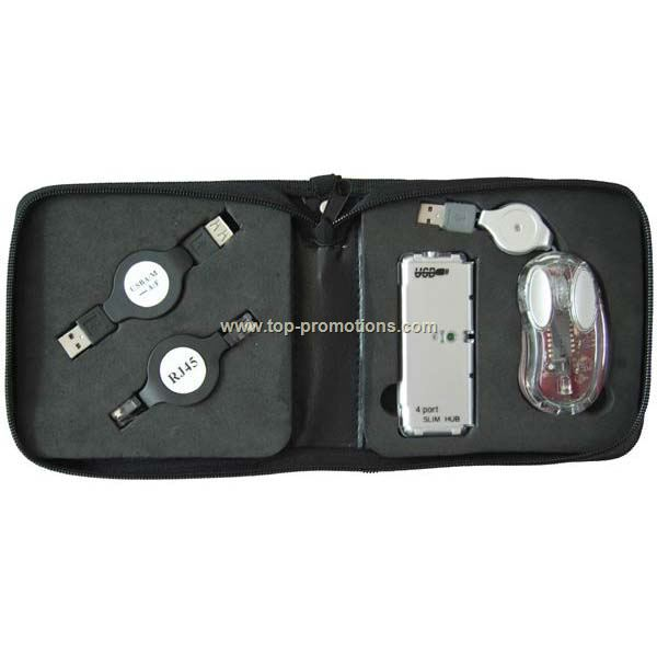 4pcs USB Travel Kit