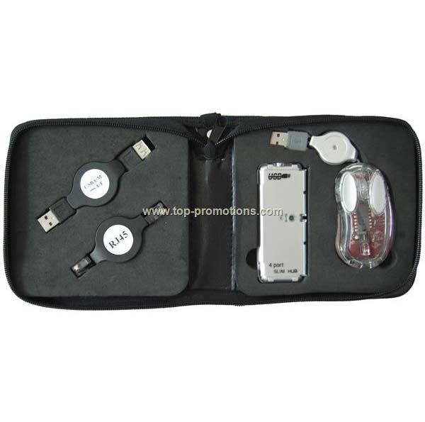 4pcs USB Travel Kit