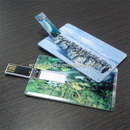 Credit card sized USB cards