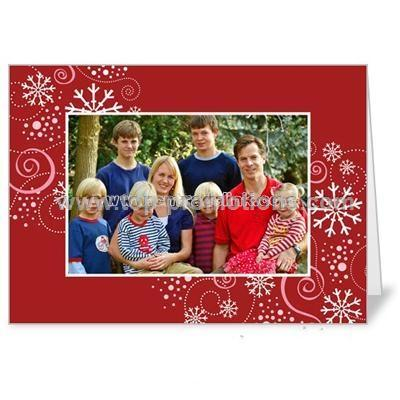 winkle Flakes Scarlet Holiday 5x7 folded card