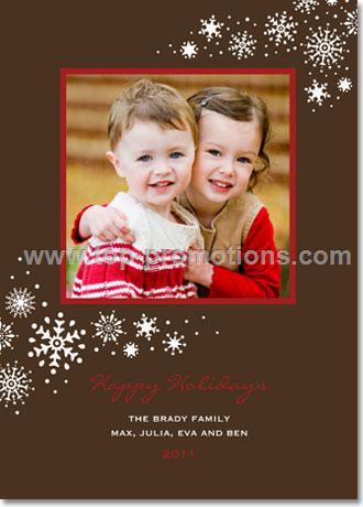 Snow Flourish Cocoa Holiday Card