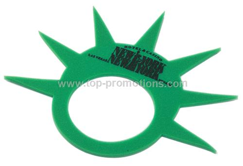 Foam Statue of Liberty Crown Visor