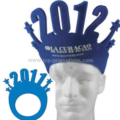 Happy New Year foam pop-up visor