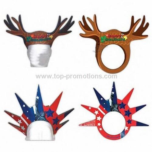 Reindeer Antlers - Foam visor headwear