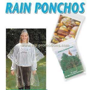 Printed Rain Poncho