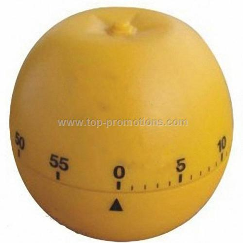 Orange shape mechanical countdown kitchen timer