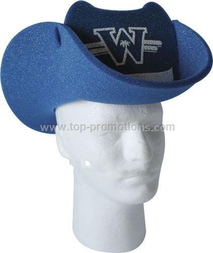 Cowboy Hat Foam Pop-up Visor