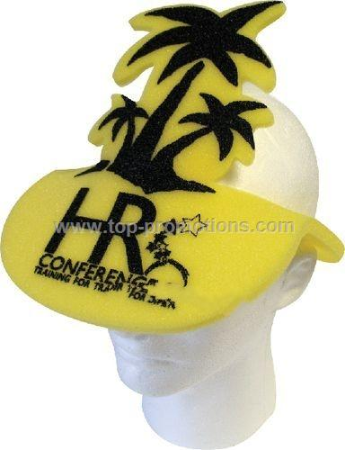 Palm Tree Foam Pop-Up Visor Hat