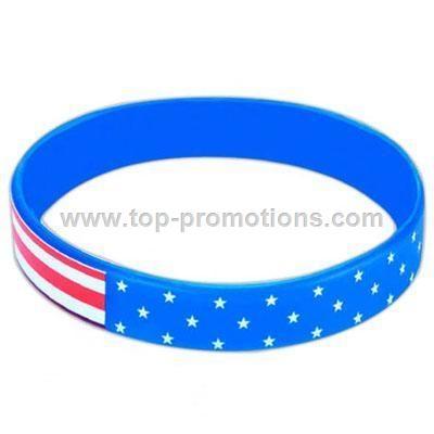 Americana - Stock design silicone wristband