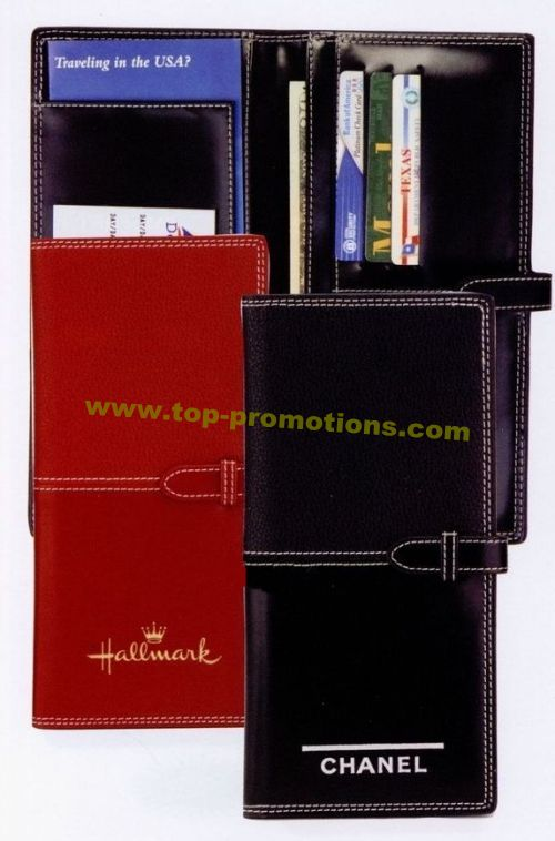 Black Closed Milano Travel Wallet
