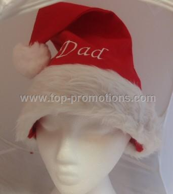 Personalised Christmas Santa Hat Dad