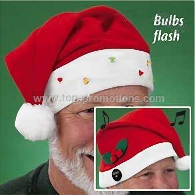 Lighted or Musical Santa Hats