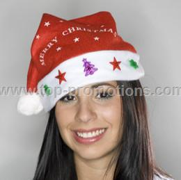 Century Novelty Santa Hat With Assorted Lights