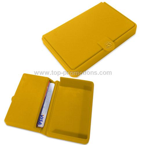 Silicone case for coins and credit cards