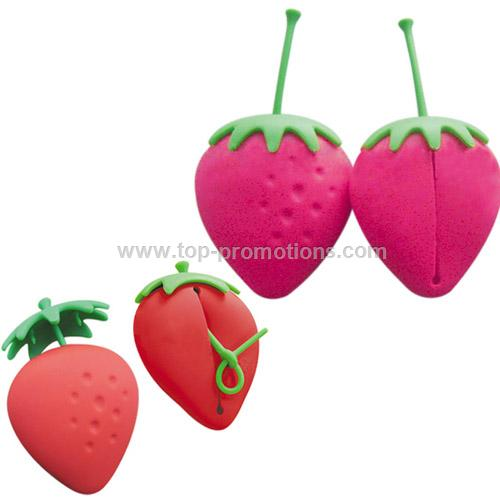 Strawberry shape coin purse