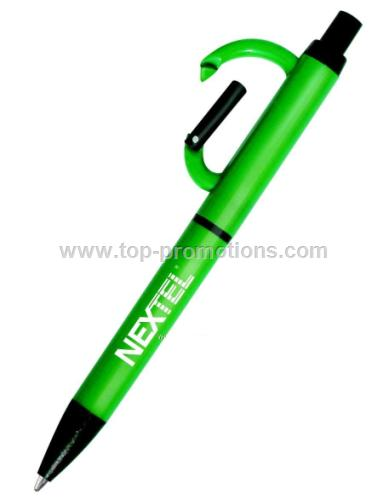 Click Pen With Carabiner Clip