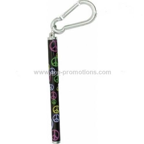Short metal carabiner pen