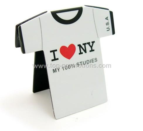 Magnetic Bookmarks in T-shirt Shape