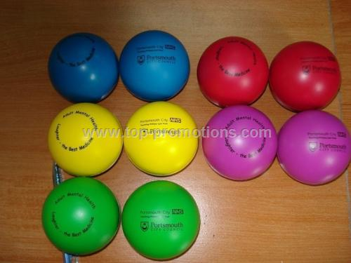 Colored stress ball
