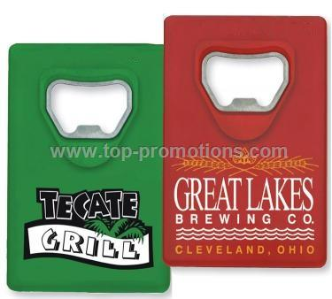 Credit card design bottle opener