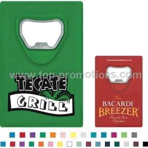 Credit card design bottle opener