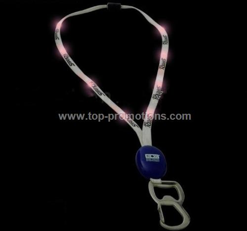 light up Bottle opener lanyard