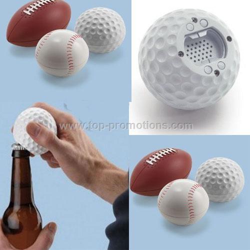 Sports Balls Talking Music Bottle Opener