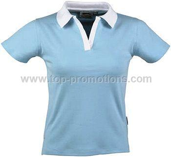 SLAZENGER LADIES CONTRAST POLO