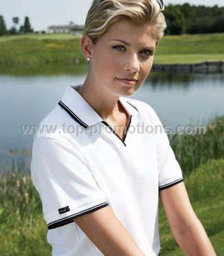 Women Polo Shirt with Stripe