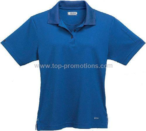 Women Pico Knit Polo Shirt with Pocket