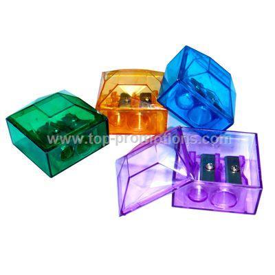 Double Hole Plastic Sharpener