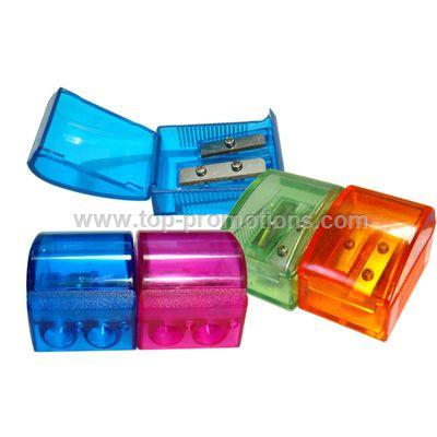 Double Hole Plastic Sharpener