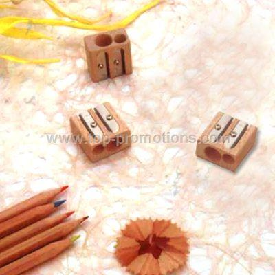 Double Hole Wooden Sharpener