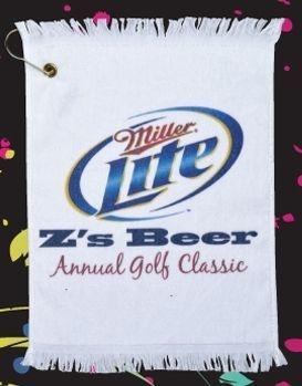Hemmed terry velour golf towel