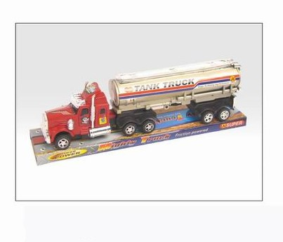 Friction Tank Truck Toy